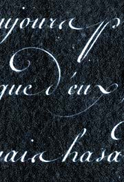 calligraphie, ronde, alphabets, lettres, stages et cours, mail-art, enveloppes calligraphies, logos, calligraphy